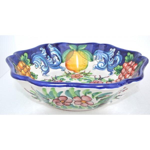 Serving Bowl Barocco Blue