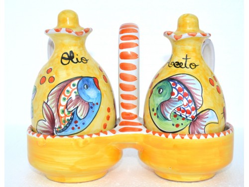 Oil & Vinegar Set Fishes yellow