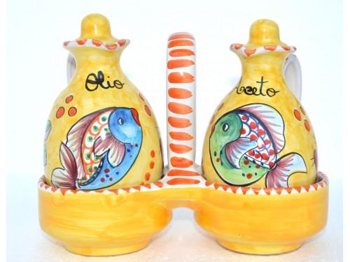 Set Olio - Aceto Pesci giallo