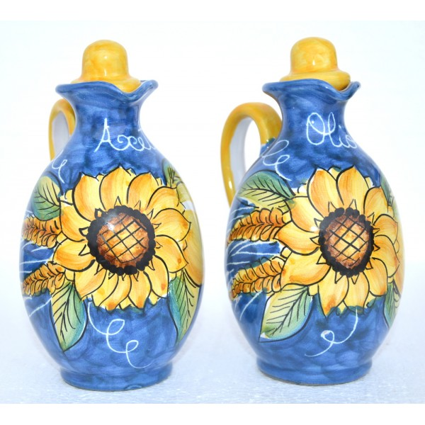 Set Oil Vinegar Sunflower with canister