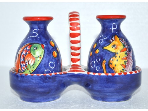 Salt & Pepper Set Fishes Blue