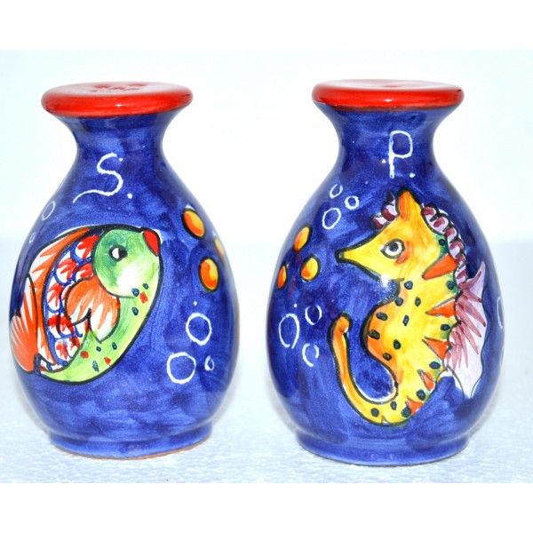 Salt & Pepper Set Fishes Blue