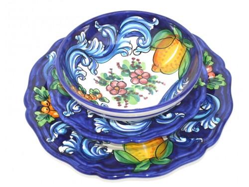 Set Piatti Barocco Blu