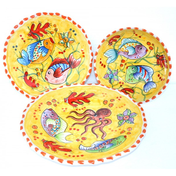 Set Dishes Fishes