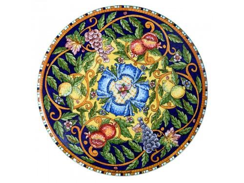 Tavolo Caffè Frutta Mista Blu e Giallo (da 40 a 60 cm)