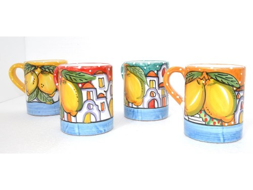 Set 4 Mugs Houses