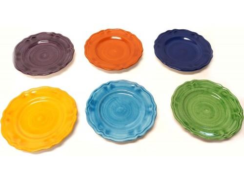 Set Piatti Frutta Monocolore (6 persone)
