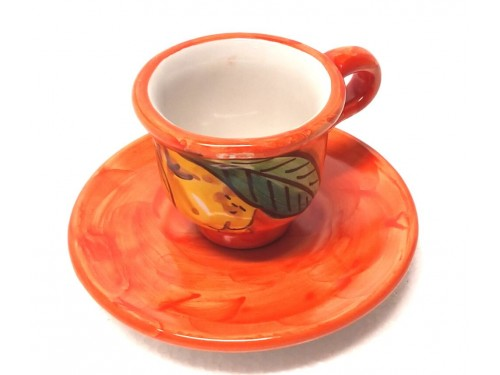 Espresso Cup & Saucer Lemon orange