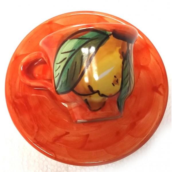 Espresso Cup & Saucer Lemon orange