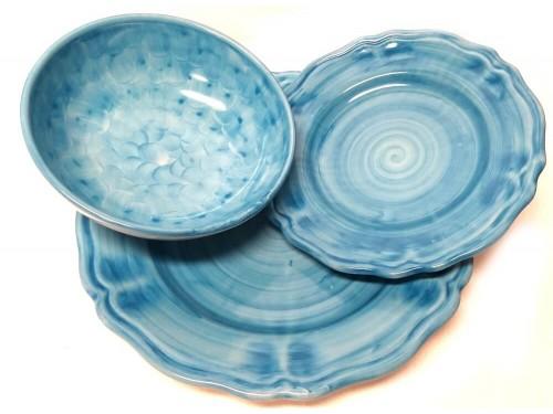 Set dishes Monocolor Light Blue