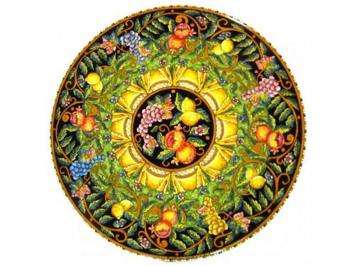 Tavolo da Pranzo Frutta Mista Nero e Verde (da 70 a 120 cm)