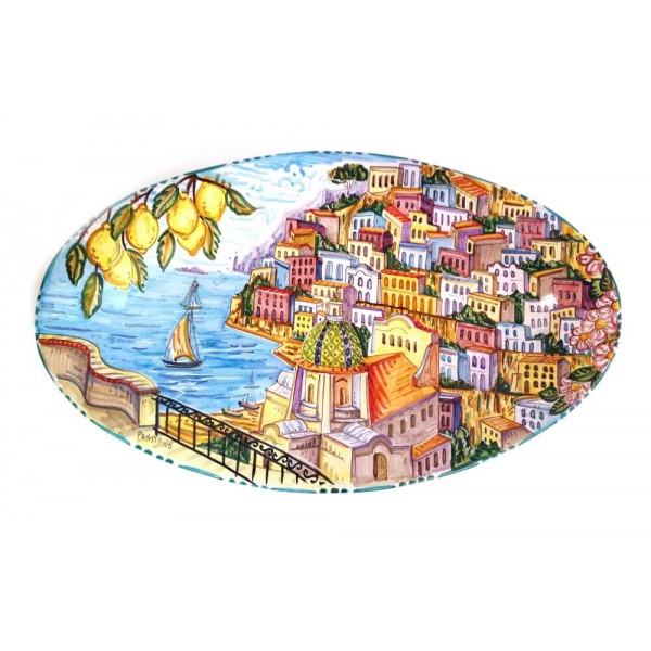 Big Oval Plate Positano