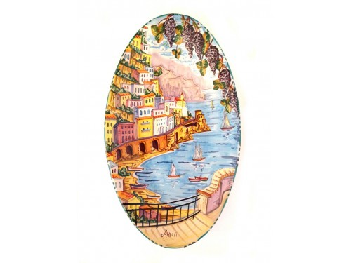 Big Oval Plate Amalfi