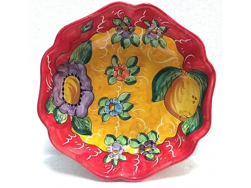 Serving Bowl Lemon Flower 1