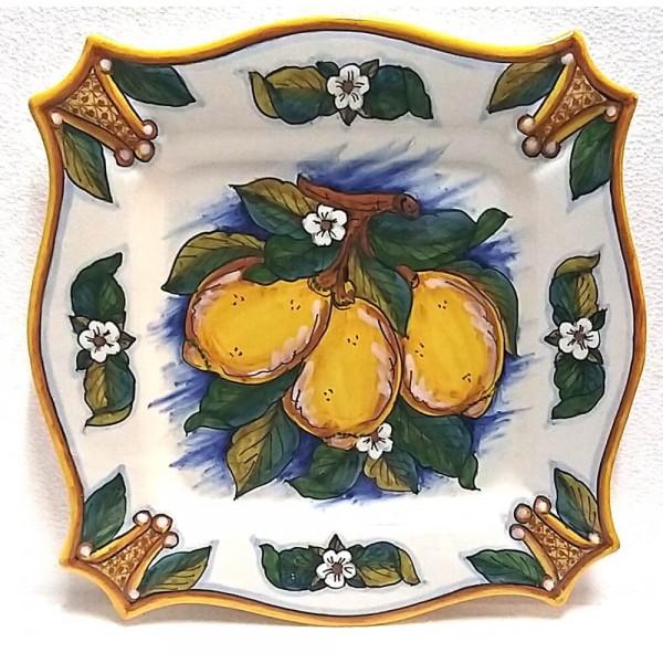 Squared Plate Lemon Conca