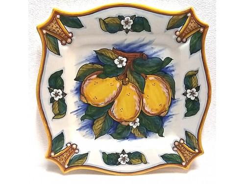 Piatto Quadrato Limoni Conca