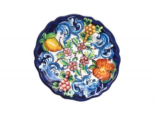 Dinner Plate Barocco Blue