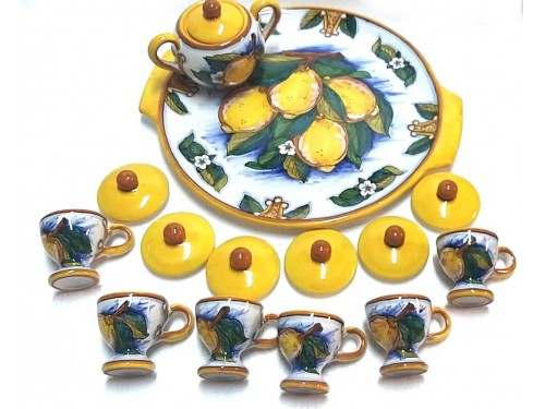 Espresso Set 6 people Lemon Conca