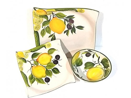Set Dishes Lemon & Olives