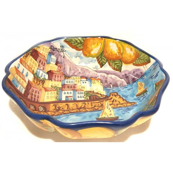 Round Sim Bowl Amalfi Blue