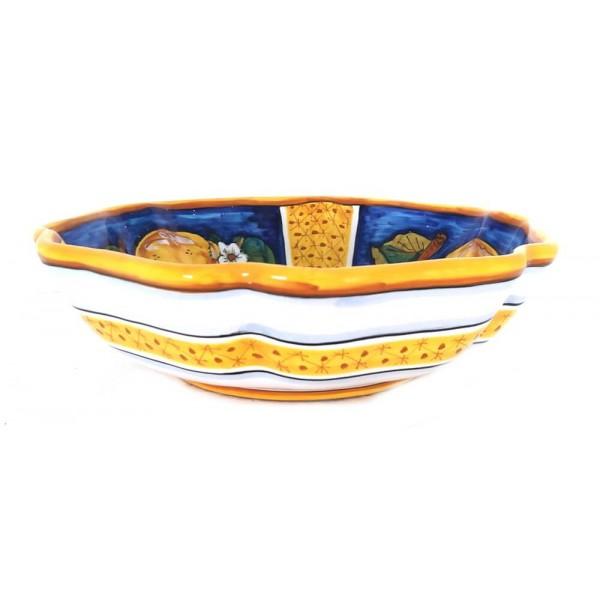 Serving Bowl Lemon Conca Blue