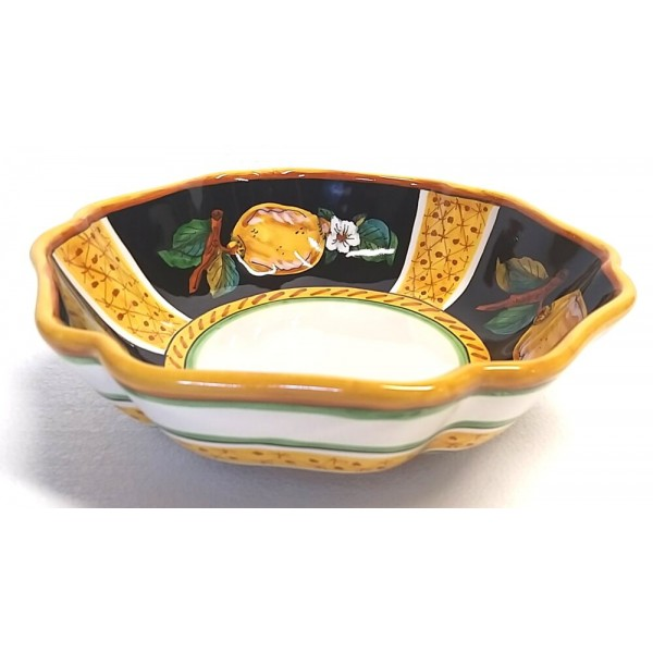 Serving Bowl Lemon Conca Black