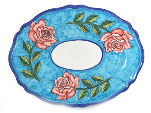 Oval Plate Roses