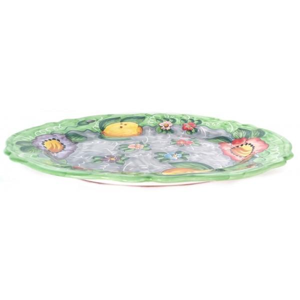Oval Plate Lemon Flower 2