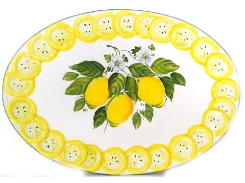 Piatto Ovale Limoni B.