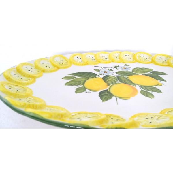 Oval Plate Lemon B