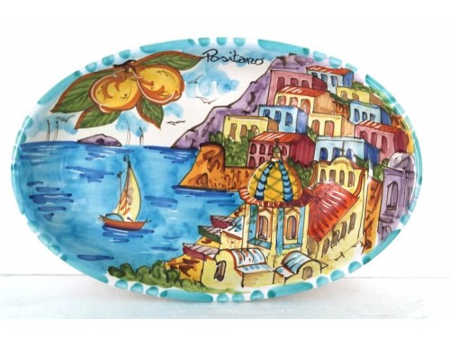 Oval Plate Positano
