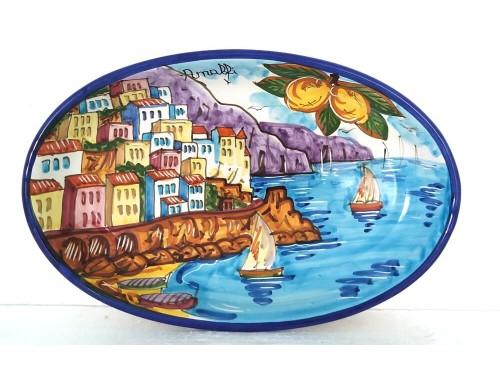 Oval Plate Amalfi