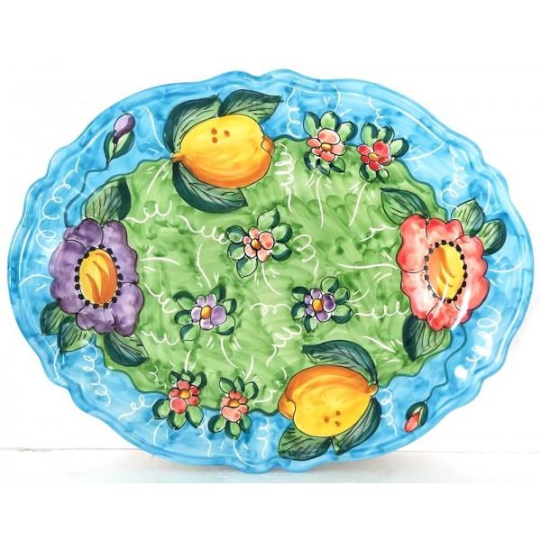 Oval Plate Lemon Flower 3