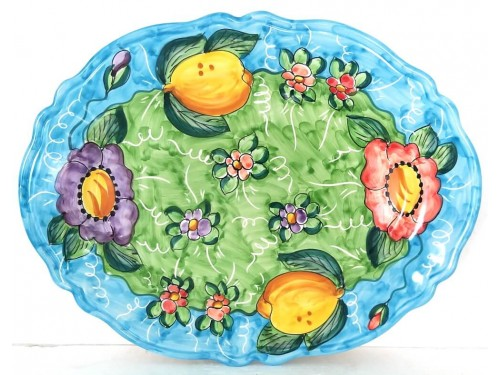 Oval Plate Lemon Flower 3
