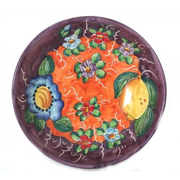 Serving Bowl Lemon Flower