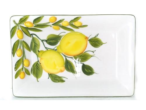 Piatto rettangolare Limoni