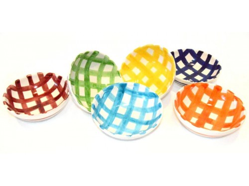 Set Soup bowl Crossed lines