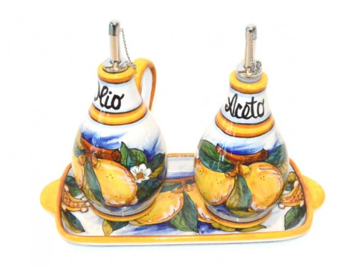 Oil - Vinegar Set Lemon Conca