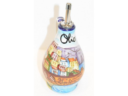 Oil Bottle Amalfi Blue