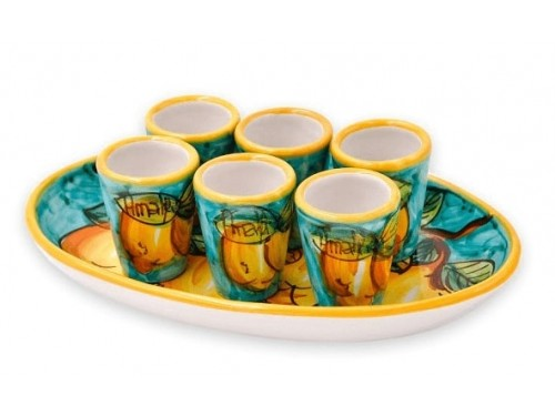 Limoncello Set Lemon green 6 people