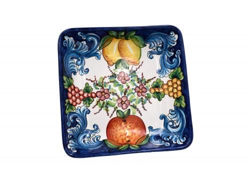 Squared Bowl Barocco blue