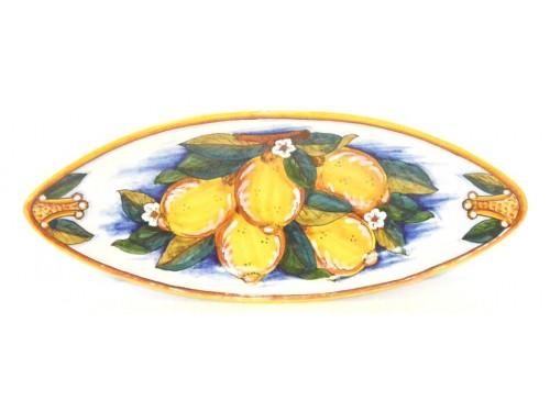 Piatto Ovale (appuntito) Limoni Conca