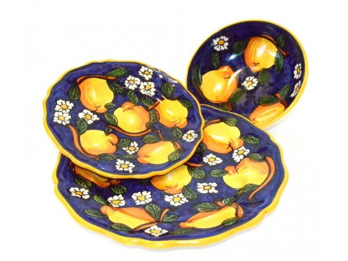 Set Dishes Lemon / Daisies Blue