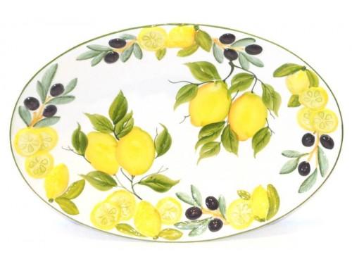Oval Plate Lemon Olives