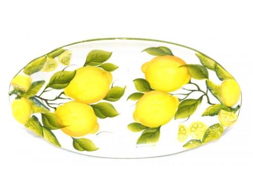 Piatto Ovale Lungo Limoni