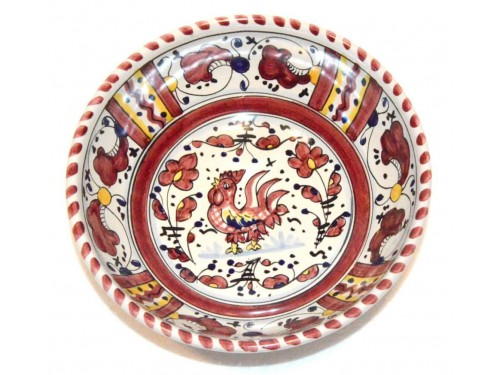 Soup bowl Rooster Red