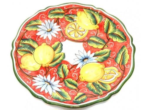 Serving Plate Lemon Red