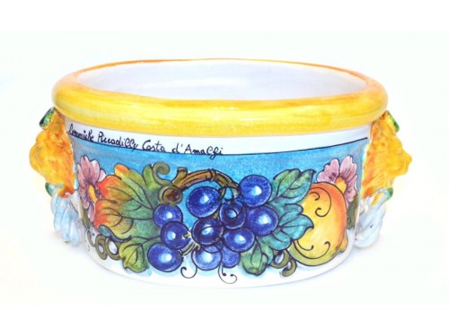 Oval Planter Pot Blue Grapes (LAST PIECE)