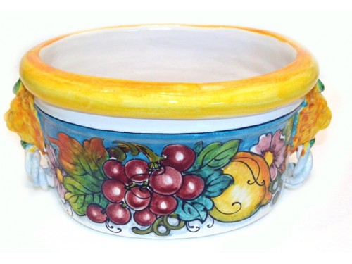 Oval Planter Pot Red Grapes