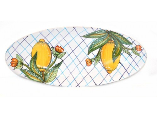 Oval (pointy) Plate Lemon Lines